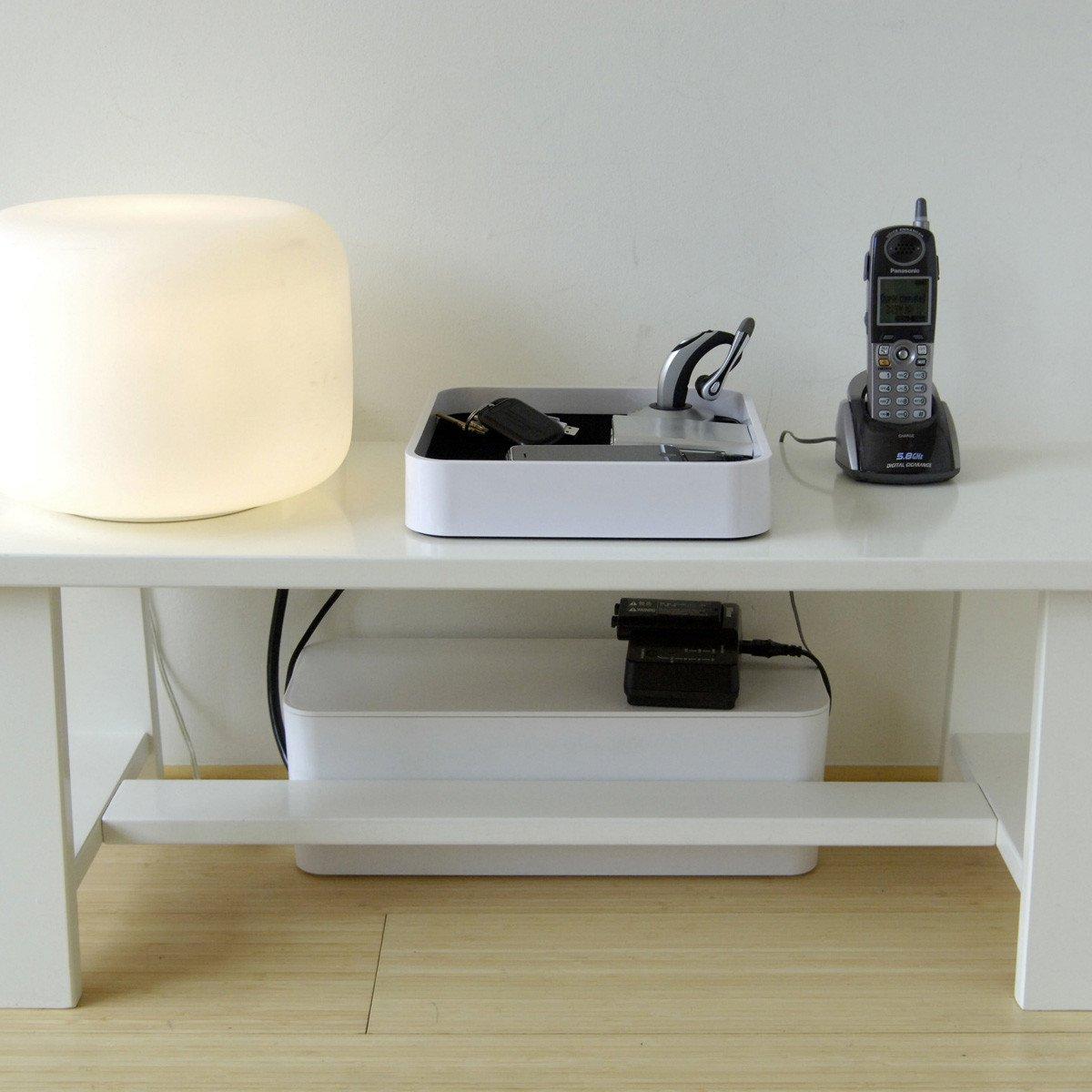 k b kabelskjuler 313x135x121 hvid p av. Black Bedroom Furniture Sets. Home Design Ideas