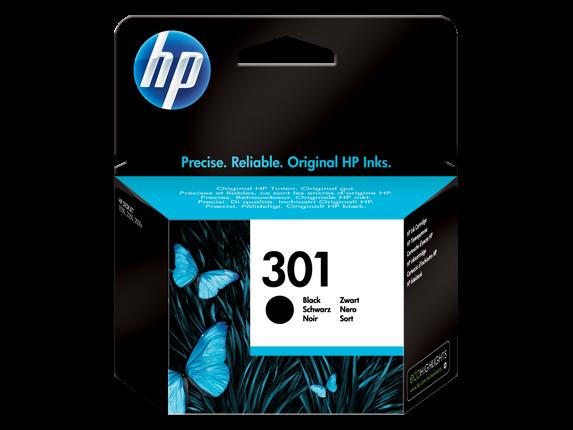 HP Black Inkjet blækpatron No.301 (CH561EE)