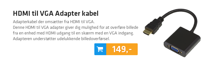 HDMI til VGA Adapter kabel