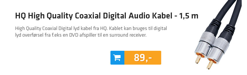 HQ High Quality Coaxial Digital Audio Kabel - 1,5 m