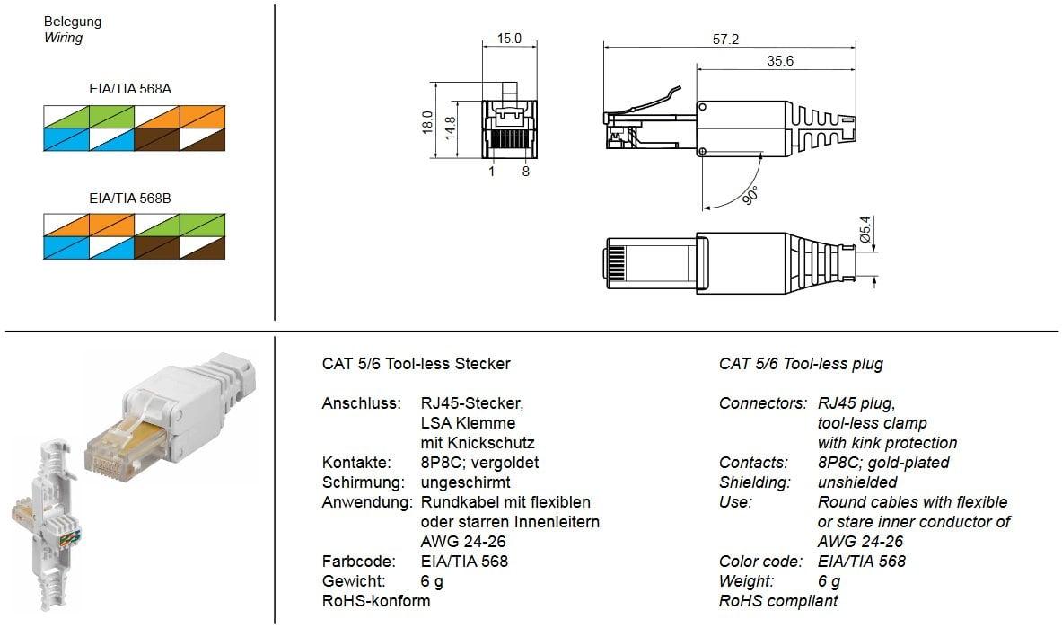 Wunderbar Cat5 Stecker Schaltplan Zeitgenössisch - Elektrische ...