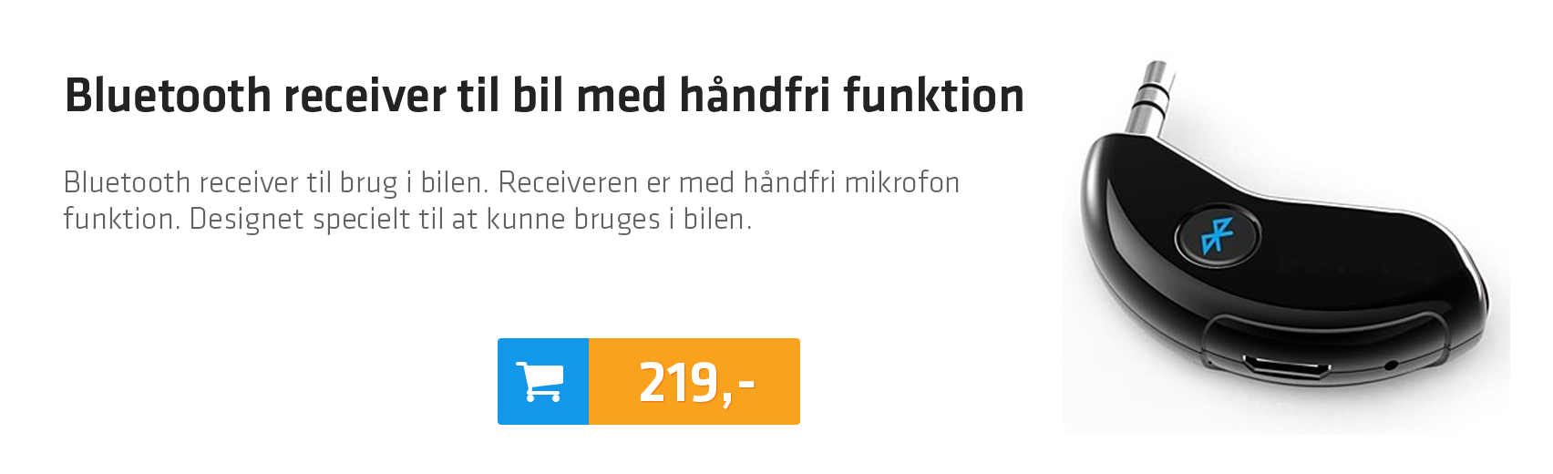 Bluetooth receiver til bil med håndfri funktion