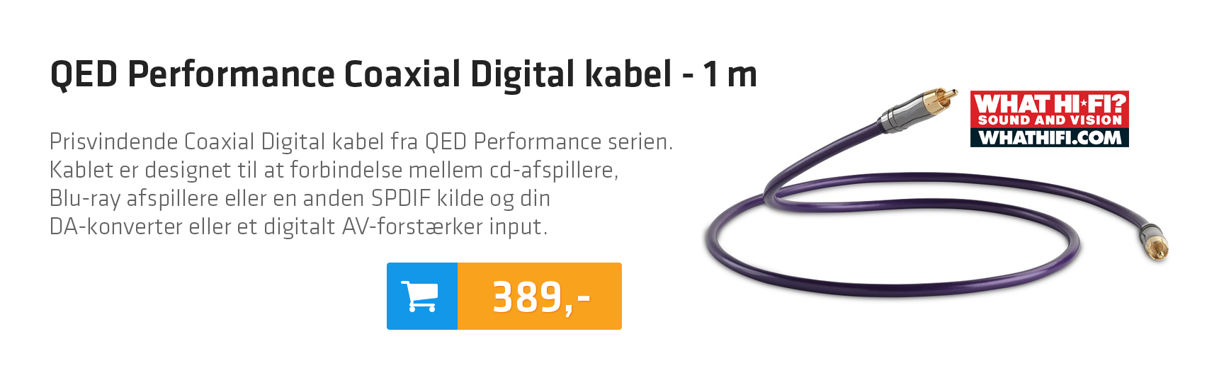 QED Performance Coaxial Digital kabel - 1 m