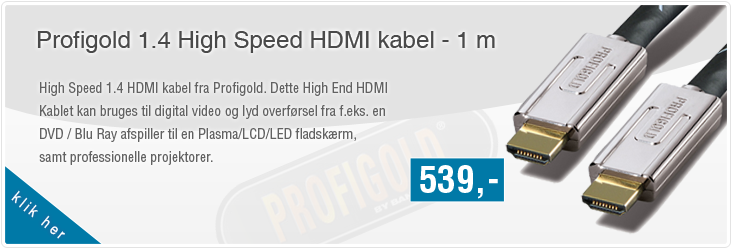 Profigold 1.4 High Speed HDMI kabel - 1 m