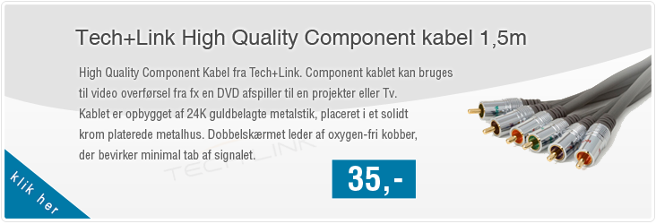 Tech+Link High Quality Component kabel - 5 m