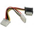 "Intern splitter adapter - 1 x 4-pin 5.25"" til S-ATA + 5.25"""