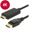 Delock Displayport 1.2 til HDMI kabel - 4K - Sort - 1 m