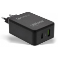 Quick Charge 3.0 USB lader - 2 x USB - 3000 mA - 30W - Sort