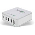 Quick Charge 3.0 USB ladestation - 5 x USB - 3000 mA - Hvid