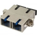 Fiber optisk duplex SC/SC singlemode metal adapter