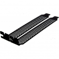 PCI slot bracket - Perforeret - Sort - 2 stk.