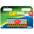 GP - Ultra Plus Alkaline - AAA batteri - 10 stk.