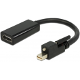 Delock Mini Displayport til HDMI - Aktiv - 4K - Skrue - 0.20 m