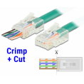 RJ45 crimp+cut Modularstik - Solid/blød Cat 5e UTP - 20 stk.