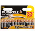 Duracell Plus Power alkaline AA batteri - 12 stk.