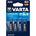 Varta - Longlife Power Alkaline batteri AAA - 4 stk.