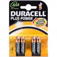 Duracell Plus Power alkaline AAA batteri - 4 stk.