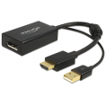 Delock HDMI til DisplayPort adapter - 4K - Sort