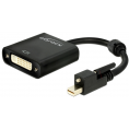 Delock Mini Displayport til DVI Adapterkabel - 4K Aktiv - Sort