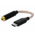 Delock USB-C 3.1 til 2.5 mm hovedtelefon adapter