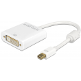 Delock Mini Displayport til DVI Adapterkabel - 4K Passiv - Hvid