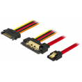 SATA 22-Pin adapterkabel - 7-Pin data + 15-Pin strøm han - 30 cm