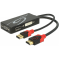 Delock HDMI til DVI/VGA/DisplayPort adapter - 4K