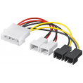 "Intern blæser adapter - 5.25"" til 2x 3 pin 12V + 2x 3 pin 5V"