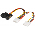 "Intern splitter adapter - 3 x 4-pin 5.25"" til S-ATA + 3.5"""