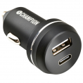 Champion 12V USB-C billader - 3A - Sort