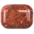 AirPods Pro Hard Marble Cover - Brown
