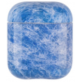 AirPods Hard Marble Cover - Blue Stone