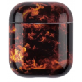 AirPods Hard Marble Cover - Flame