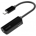 Baseus Lightning til 3.5 mm hovedtelefon adapter kabel - Sort
