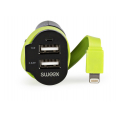 Sweex - 12V Lightning billader - 2 x USB - 6A - 0.26 m - Sort