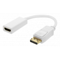 Displayport 1.2 til HDMI Adapter kabel - 4K/60Hz - Hvid