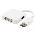 Displayport til HDMI/DVI/DisplayPort adapter kabel