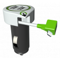 Q2 Power Lightning billader - 2 x USB - 2.1A - Hvid/Sort