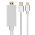 Lightning til HDMI adapter kabel - Sølv - 2 m