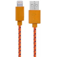 Stofbeklædt Lightning USB kabel - Orange - 1 meter