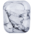 AirPods Hard Marble Cover - White Stone