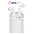 Earbuds True Wireless Sound - Touch Control - Hvid