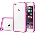 iPhone 6/6S metal bumper med bag cover - Pink