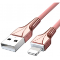 Fast Charge Lightning kabel - Nylon - 3A - Rosa - 1 m