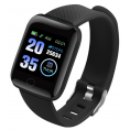 Smart Watch Fitness Armbånd - HR sensor - Sort