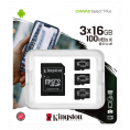 Kingston Canvas Select Plus Micro SDHC - 3 x 16 GB - Class 10