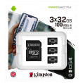 Kingston Canvas Select Plus Micro SDHC - 3 x 32 GB - Class 10