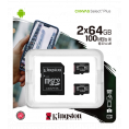Kingston Canvas Select Plus Micro SDHC - 2 x 64 GB - Class 10