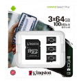 Kingston Canvas Select Plus Micro SDHC - 3 x 64 GB - Class 10