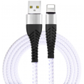 Flexible Lightning kabel - 2A - Hvid - 0.25 m